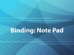 Binding: Note Pad