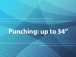 Punching: up to 34