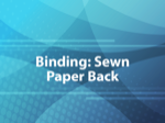 Binding: Sewn Paper Back