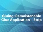 Gluing: Remoistenable Glue Application - Strip