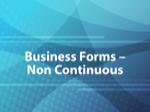 Business Forms - non continuous
