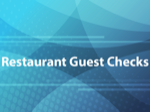 Restaurant Guest Checks