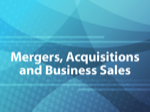Mergers, Acquisitions and Business Sales